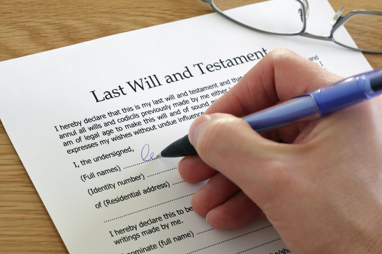 Reasons to write a will